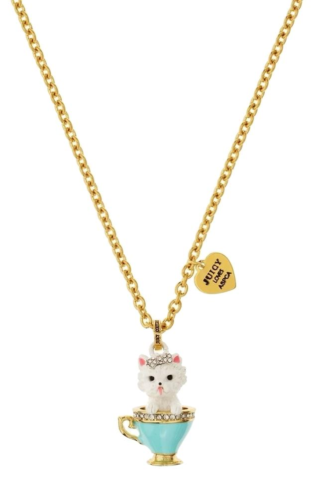 Juicy couture teacup yorkie pendant necklace tradesy juicy couture juicy couture teacup yorkie pendant aloadofball Gallery