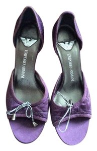 Emporio Armani Purple Pumps