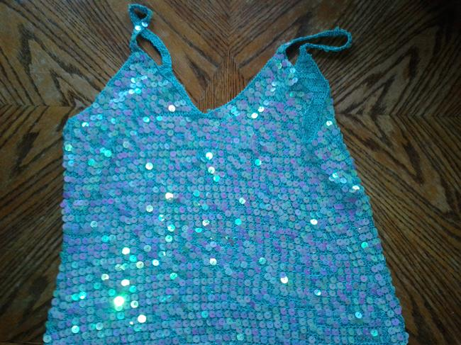 Carabella Top turquoise/sequins Image 4