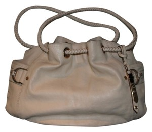 Cole Haan Saddle Denney Grain Leather Braided Leather Gold-tone Hardware Hobo Bag