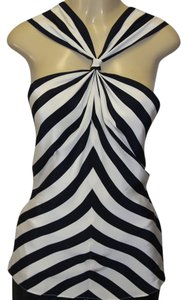 Lauren Ralph Lauren Top STRIPED BLACK/BEIGE