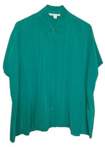 Diane von Furstenberg Silk Dvf Top Emerald Green