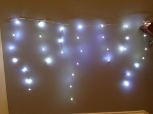 White Led-fairy Lights; Battery Operated Reception Decoration