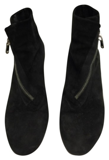 DKNY Black Suede Boots