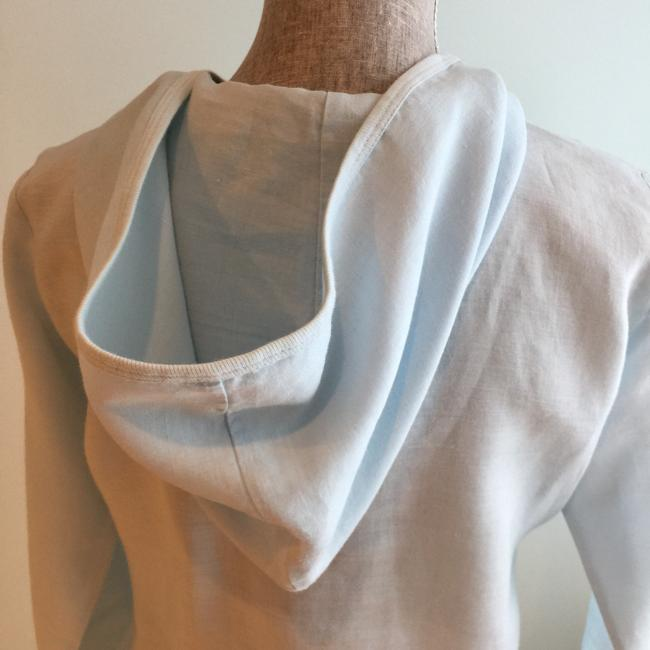 Other Linen Hoodies Size Small Size Small Hoodies Sky Blue Jacket Image 4