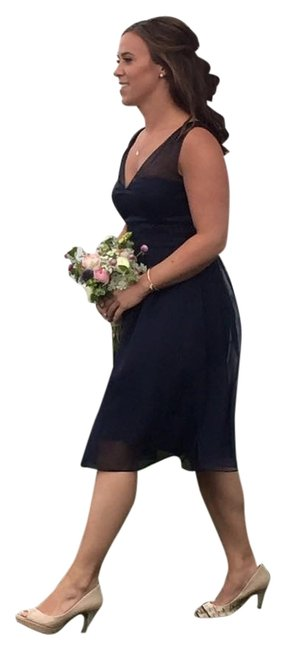 Item - Navy Ainsley Knee Length Formal Dress Size 4 (S)
