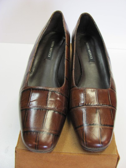 Sesto Meucci Very Good Condition Leather Sole Size 9.00 N BROWN Pumps Image 1