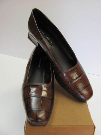 Sesto Meucci Very Good Condition Leather Sole Size 9.00 N BROWN Pumps Image 2
