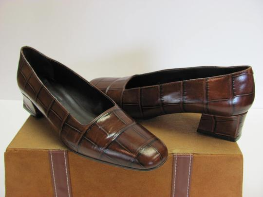 Sesto Meucci Very Good Condition Leather Sole Size 9.00 N BROWN Pumps Image 3