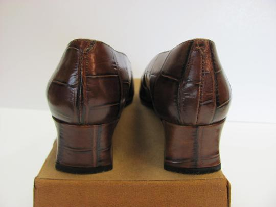Sesto Meucci Very Good Condition Leather Sole Size 9.00 N BROWN Pumps Image 4