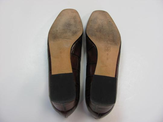 Sesto Meucci Very Good Condition Leather Sole Size 9.00 N BROWN Pumps Image 6