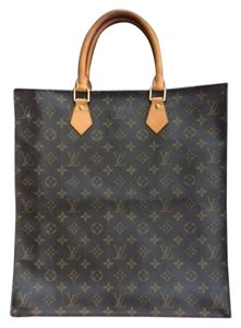 Louis Vuitton Monogram Handbag Leather Tote in Brown
