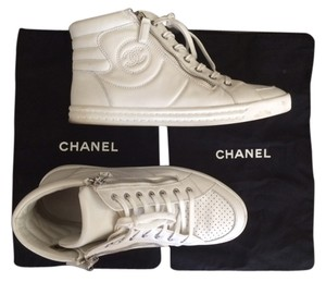 Chanel High Tops Sneakers Leather white Athletic