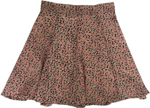 Brandy Melville High-waisted Fit-and-flare Mini Skirt Pink Floral