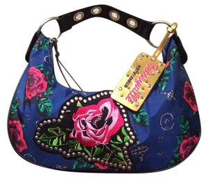 Betsey Johnson Monogrammed Bj Womens Teen Shoulder Bag