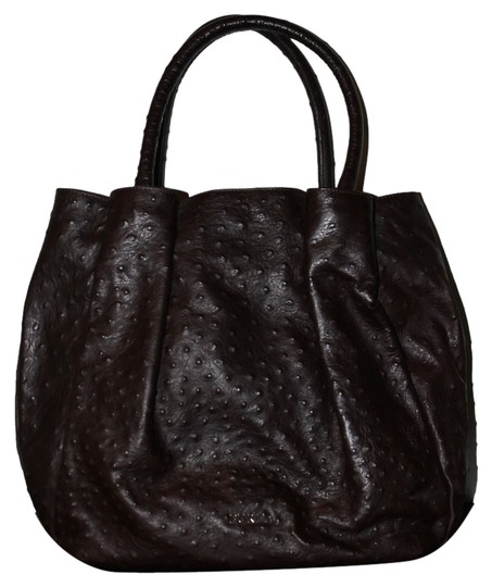 Preload https://item1.tradesy.com/images/furla-ostrich-leather-shoulder-bag-dark-brown-5098435-0-0.jpg?width=440&height=440