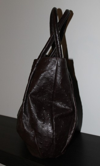 Furla Ostrich Leather Shoulder Bag