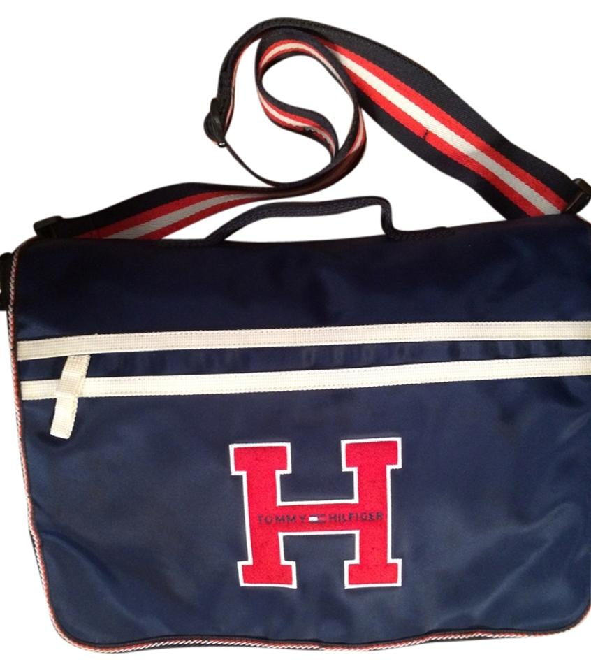 Tommy Hilfiger Red White Blue Canvas Messenger Bag Tradesy