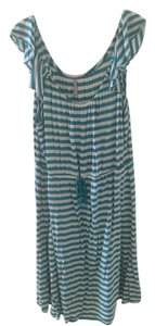 Old Navy short dress Turquoise and Cream on Tradesy