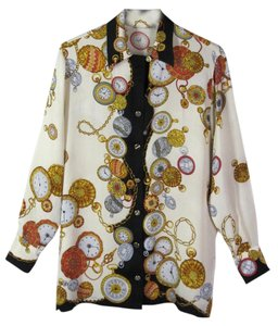 Borbonese Silk Italy Borbobese Top Multi-Color