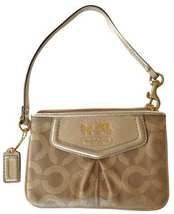 Coach Coach Gold Wrist-let Wallet