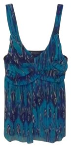 INC International Concepts Edgy Punk Royal Cami Mesh Top blue,black