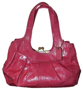 033d30f6d Coach Punch Pink Patent Leather Satchel - Tradesy