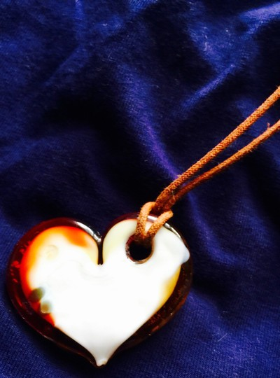 Other Necklace Heart withGold inlay & other colors