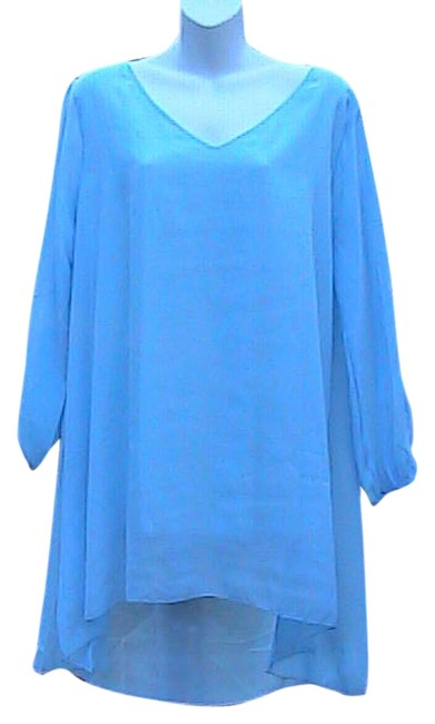 Preload https://img-static.tradesy.com/item/5098987/light-blue-summer-chiffon-blouse-size-os-one-size-0-0-650-650.jpg