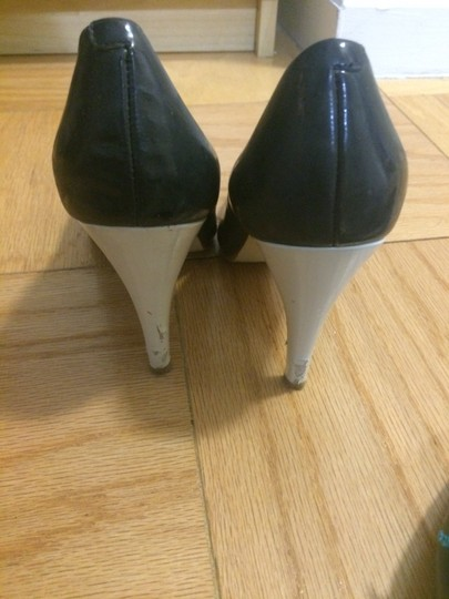 Enzo Angiolini Blue and White Pumps