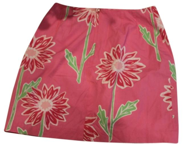 Lilly Pulitzer Mini Skirt PINK WITH DAISYS