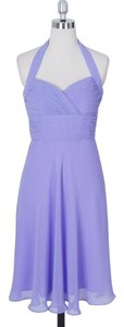 Purple Lavender Halter Sweetheart Pleated Dress