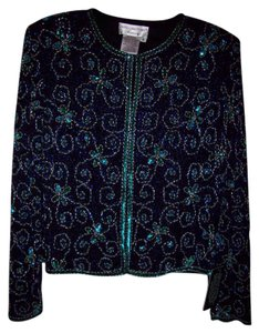 pap'ell boutique Holiday New Years Eve Top blue mixture