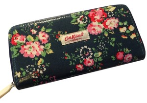 Cath Kidston Cath Kidston - London Dark Green with Red Pink Rose Flora Flowers Oil Cloth Printed Zipped Wallet Purse