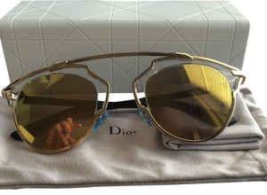 Dior Dior 'So Real' 48mm Gold Mirrored Sunglasses Gold/Crystal/Black