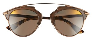 Dior So Real 48mm Mirrored Sunglasses Broze Havana/Brown Gold Mirror