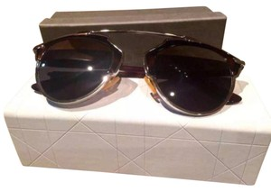 Dior Dior 'So Real' 48mm Mirrored Sunglasses Tortoise/Dark Grey/Silver Mirror