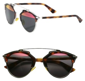 Dior Dior 'So Real' 48mm Mirrored Sunglasses Palladium/Tortoise