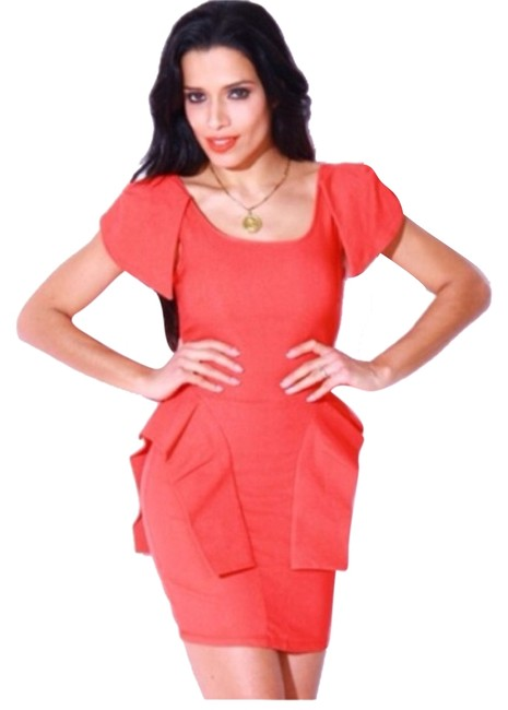 Preload https://item4.tradesy.com/images/bloomingdale-s-orangered-peplum-above-knee-night-out-dress-size-6-s-5100643-0-0.jpg?width=400&height=650