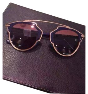 Dior Dior 'So Real' 48mm Mirrored Sunglasses GOLD NAVY/GREY MIRROR PINK