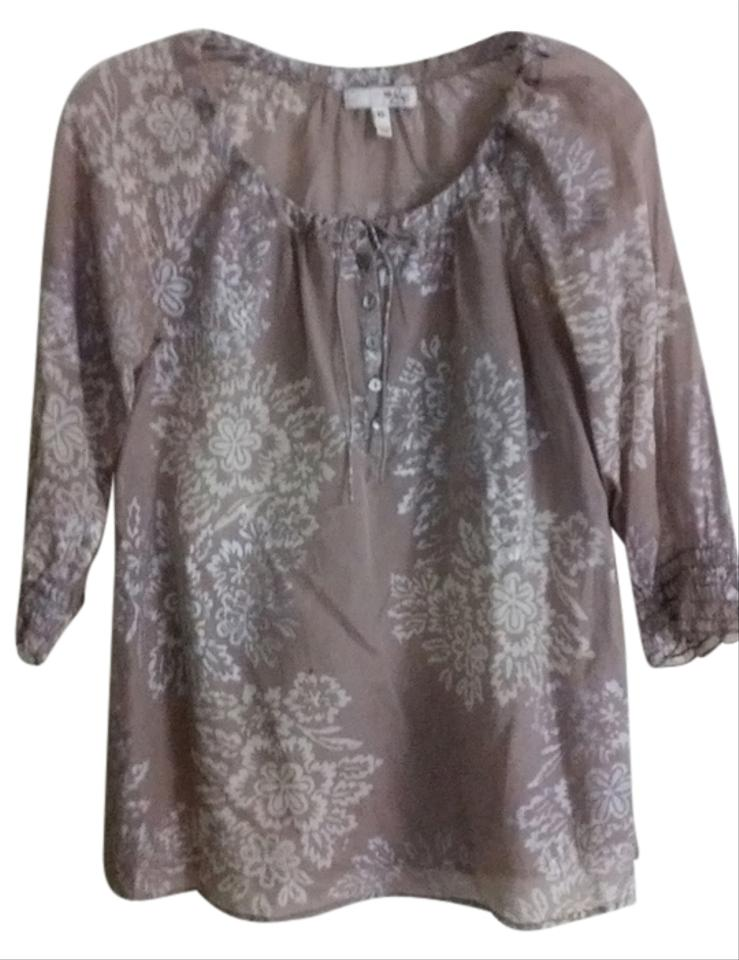 34c17c9ed63be4 Joie Taupe Printed Blouse Size 2 (XS) - Tradesy