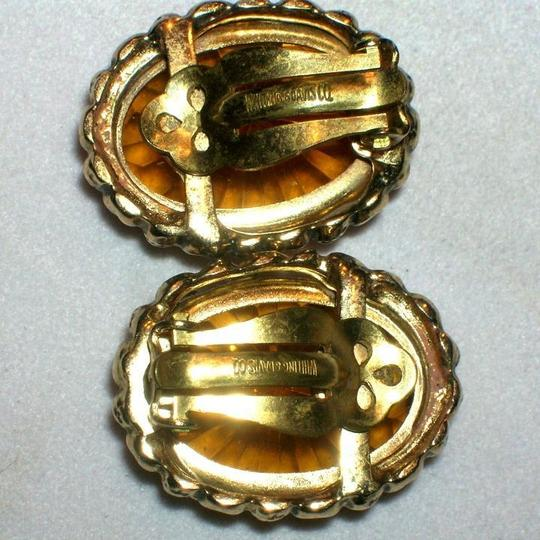 Whiting & Davis Vintage Whiting Davis Art Deco Cut Glass & Goldtone Bracelet & Earrings Set