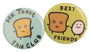 Set of Two Mr.Toast Pin