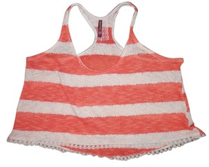 Mauve Boho Short Lacy Top Salmon/Coral Ivory