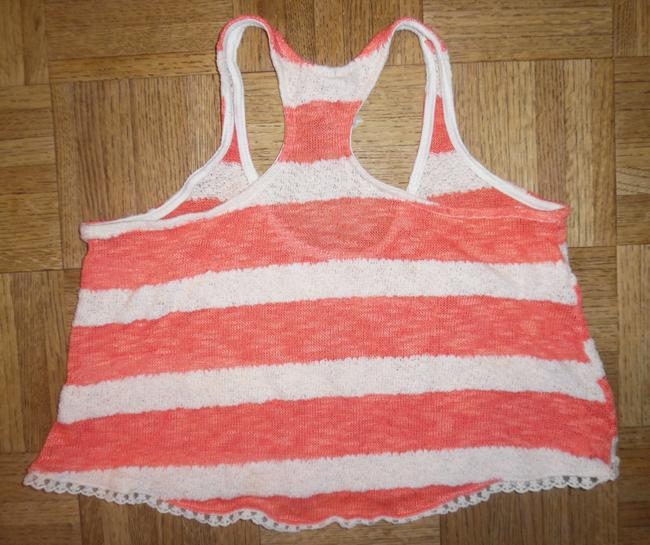 Mauve Camisole Boho Short Lacy Top Salmon/Coral Ivory