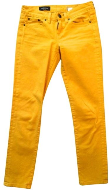 Item - Mustard Toothpick / Ankle Colored Demin Capri/Cropped Jeans Size 26 (2, XS)