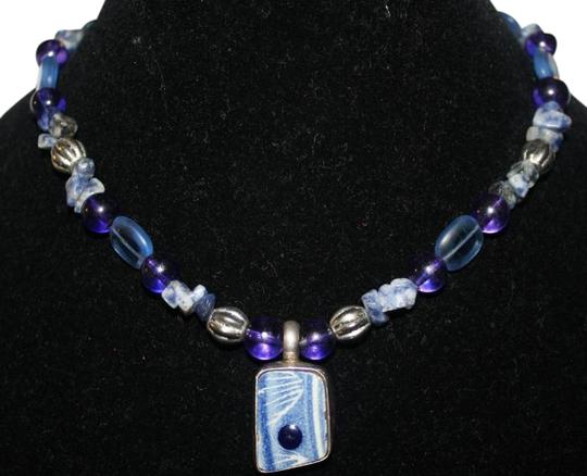 Preload https://item3.tradesy.com/images/blues-and-purples-artisan-made-sterling-silver-with-large-center-stone-necklace-510337-0-0.jpg?width=440&height=440