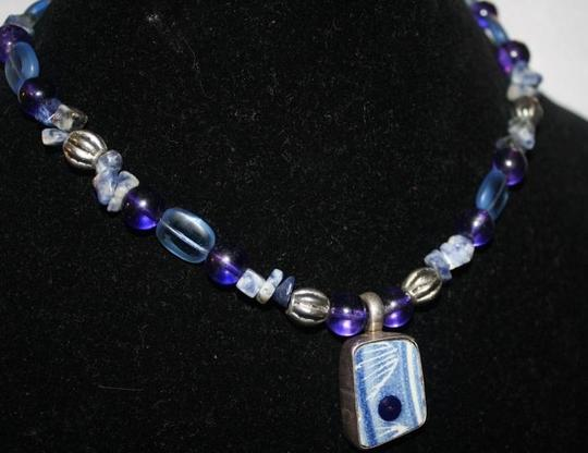 Other Artisan Made Sterling Silver Necklace with Large Center Stone