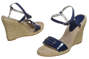 Calvin Klein Blue/Tan Wedges