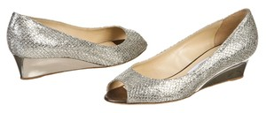 Jimmy Choo Silver Wedges